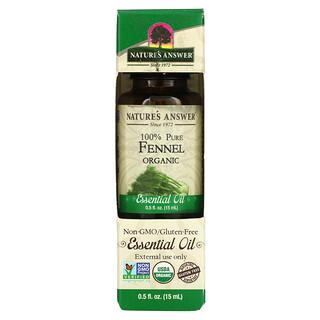 Nature's Answer, Organic Essential Oil, 100% Pure, Fennel, 0.5 fl oz (15 ml)