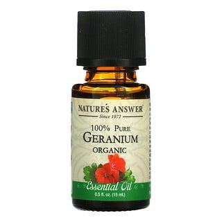 Nature's Answer, Organic Essential Oil, 100% Pure, Geranium, 0.5 fl oz (15 ml)