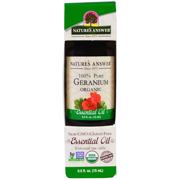 Geranium Organic Essential Oil, 0.5 fl oz (15 ml)