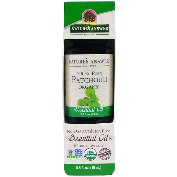 Nature's Answer, Organic Essential Oil, 100% Pure Patchouli , 0.5 fl oz (15 ml) (Discontinued Item)