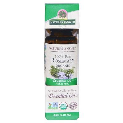 Купить Органические эфирные масла, масло розмарина, 0, 5 жидких унций (15 мл)