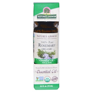 Nature's Answer, Organic Essential Oil, 100% Pure Rosemary, 0.5 fl oz (15 ml)