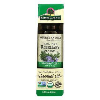Nature's Answer, Organic Essential Oil, 100% Pure Rosemary, 0.5 fl oz (15 ml)