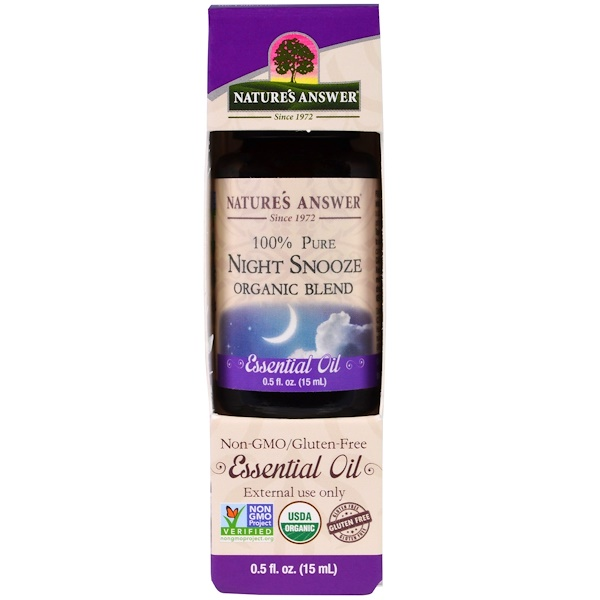 Nature's Answer, 100% Pure, Organic Blend Essential Oil, Night Snooze, 0.5 fl oz (15 ml) (Discontinued Item)