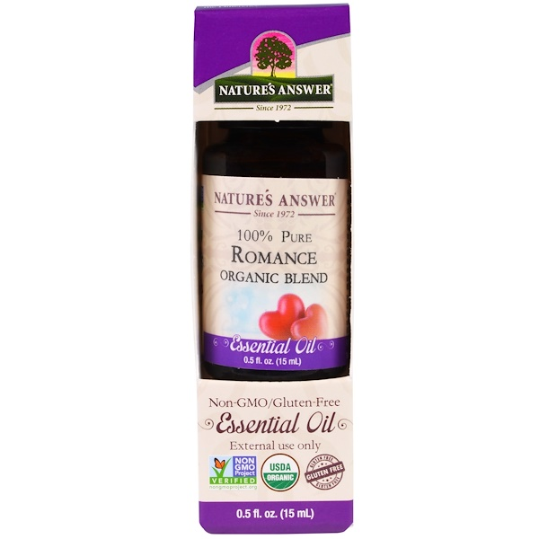 Nature's Answer, 100% Pure, Organic Blend Essential Oil, Romance, 0.5 fl oz (15 ml) (Discontinued Item)