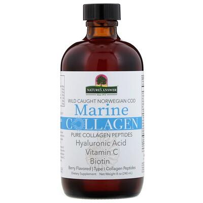 Купить Nature's Answer Морской коллаген из дикой норвежской трески, с ягодным вкусом, 240г (8унции)