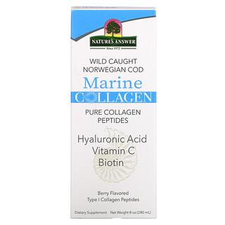 Nature's Answer, морской коллаген из дикой норвежской трески, с ягодным вкусом, 240мл (8унций)