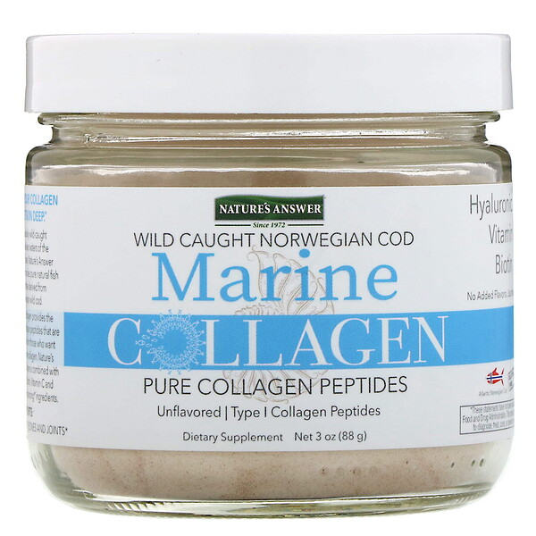 Nature's Answer, Marine Collagen, Wild Caught Norwegian Cod, Unflavored, 3 oz (88 g)