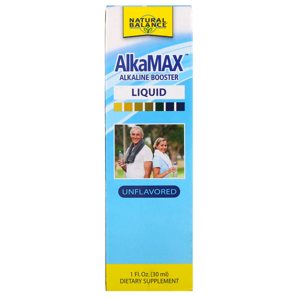 Natural Balance, AlkaMax, Alkaline Booster Liquid, Unflavored, 1 fl oz (30 ml) (Discontinued Item)