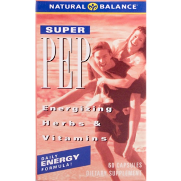 Natural Balance, All Day, Super Pep, 60 Capsules (Discontinued Item)