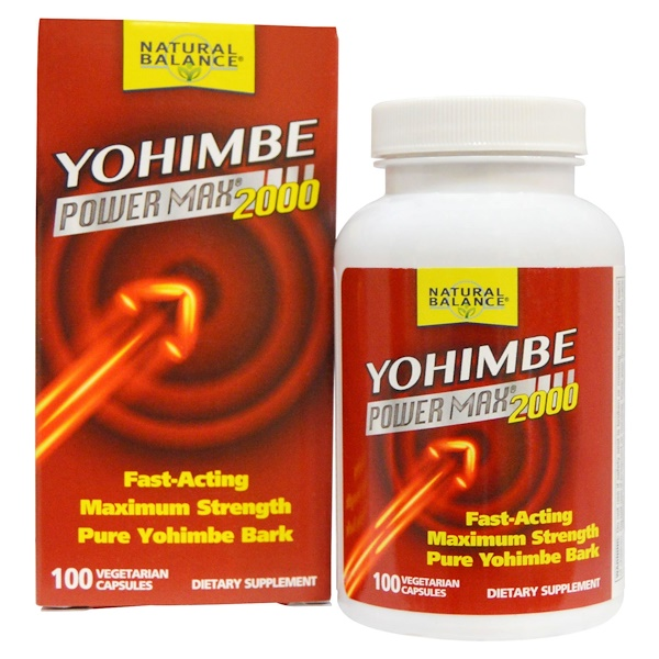 Natural Balance, Yohimbe Power Max 2000, 100 Veggie Caps (Discontinued Item)