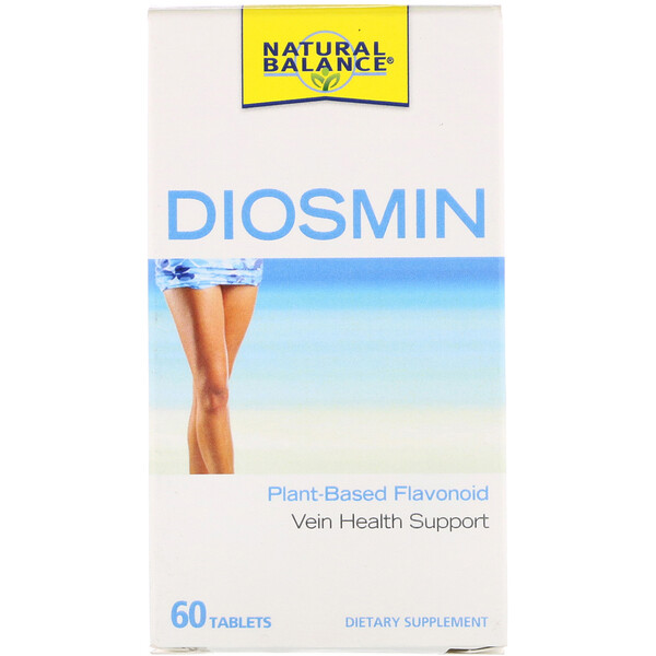 Natural Balance, Diosmin, Vein Health Support, 60 Tablets