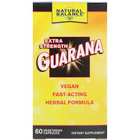 Гуарана, Guarana Extra Strength, 60 вегетарианских капсул - фото