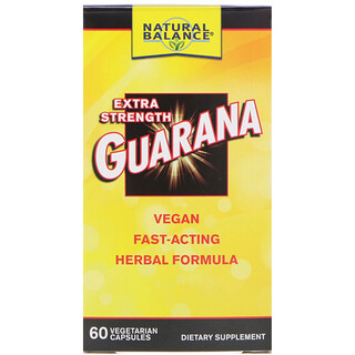 Natural Balance, Guarana, Extra Strength, 60 Vegetarian Capsules