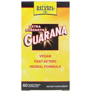 Natural Balance, Guarana، قوة إضافية، 60 كبسولة خضراء