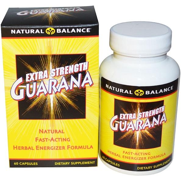 Natural Balance, Гуарана, Guarana Extra Strength, 60 вегетарианских капсул