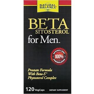 Natural Balance, Beta-Sitosterol For Men, 120 VegCaps