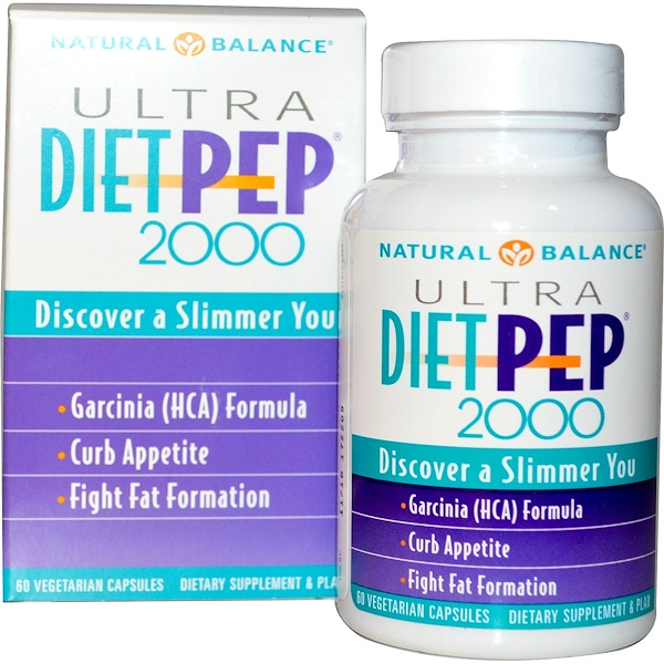 Natural Balance, Ultra Diet Pep 2000, 60 Veggie Caps (Discontinued Item)
