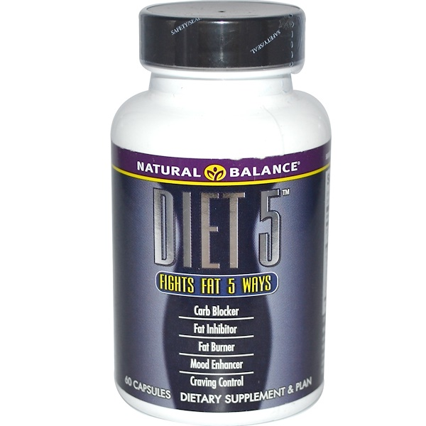 Natural Balance, Diet 5, 60 Capsules (Discontinued Item)