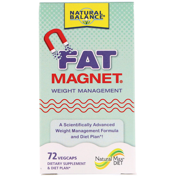 Natural Balance, Fat Magnet, Weight Management, 72 Vegcaps