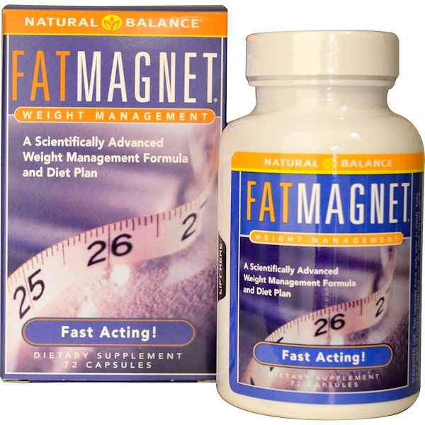 Natural Balance, Fat Magnet, Weight Management, 72 Veggie Caps