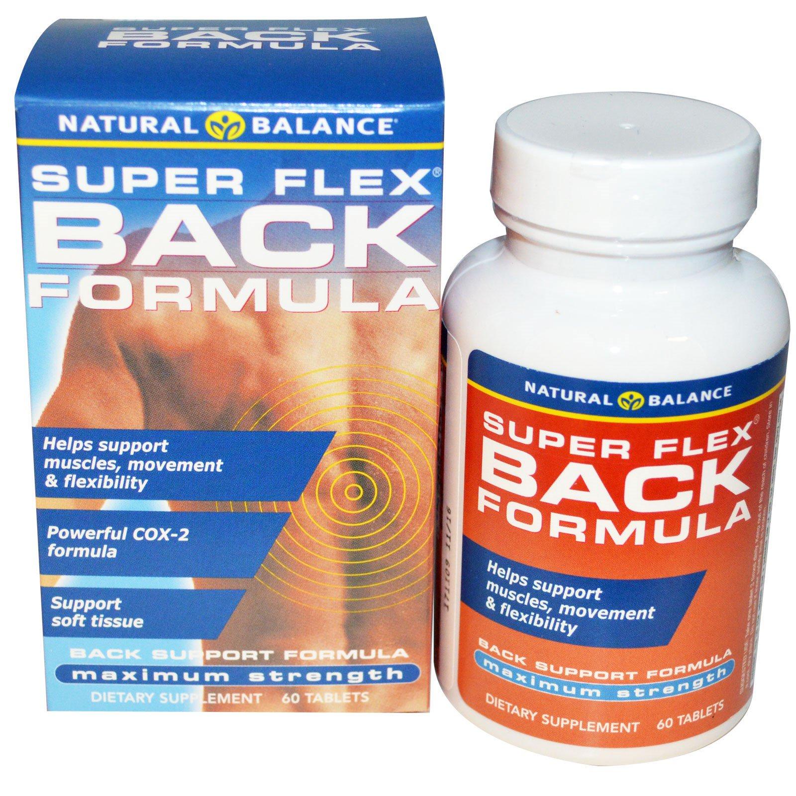 Natural Balance, «Супер Флекс», формула для улучшения здоровья спины, максимальная сила, 60 таблеток