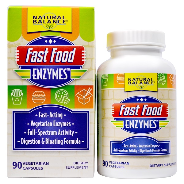 Natural Balance, Fast Food Enzymes, 90 Veggie Caps (Discontinued Item)