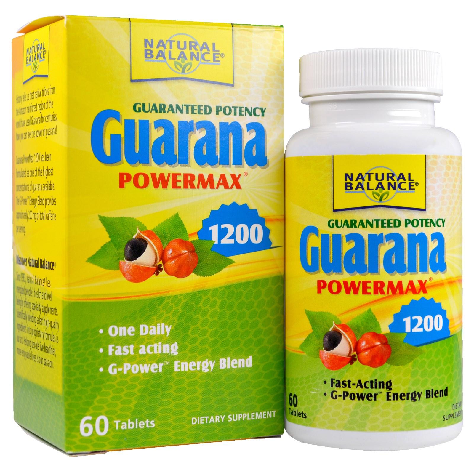 Natural Balance, Гуарана Powermax 1200, 60 таблеток