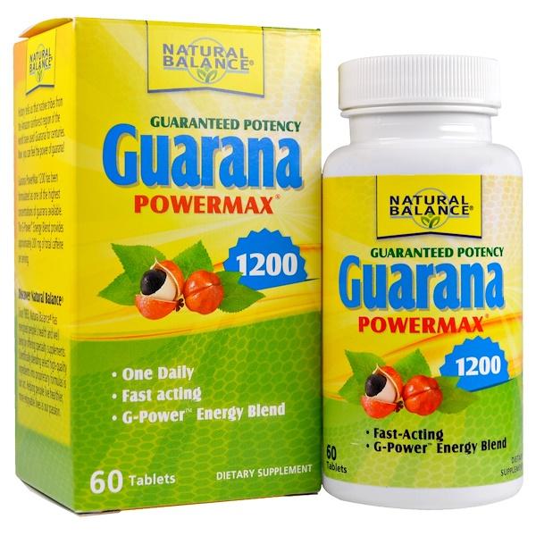 Natural Balance, Guarana Powermax 1200, 60 Tablets (Discontinued Item)
