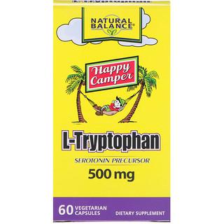Natural Balance, L-Tryptophan, 500 mg, 60 Vegetarian Capsules