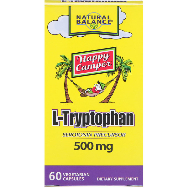Natural Balance, L-Tryptophan, 500 mg, 60 Vegetarian Capsules