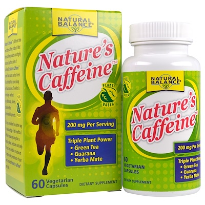 Natural Balance 大自然的咖啡因,60粒素食帽