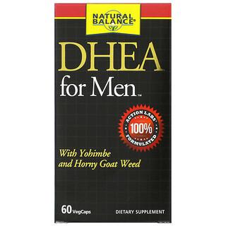 Natural Balance, DHEA for Men, 60 VegCaps