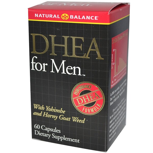 Natural Balance, DHEA for Men, 60 Capsules
