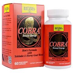 Natural Balance, الكوبرا، طاقة جنسية، 60 كبسولة نباتية