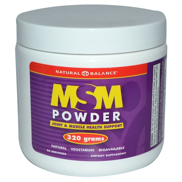 Natural Balance, MSM Powder, 320 g (Discontinued Item)