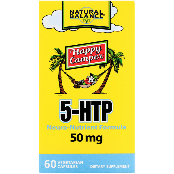 Happy Camper, 5-HTP, 50 mg, 60 Vegetarian Capsules