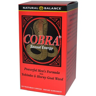 Natural Balance, Cobra Sexual Energy, 120 Vegetarian Capsules