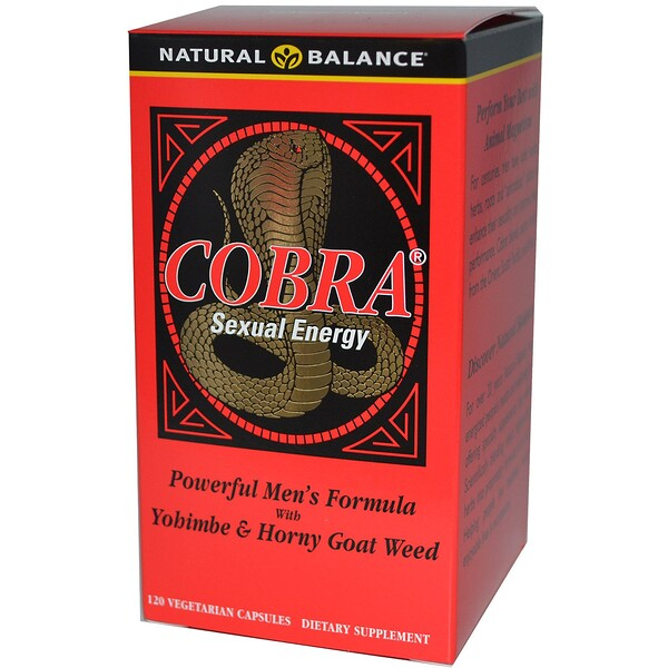 Natural Balance, Cobra Energia Sexual, 120 Cápsulas Vegetais