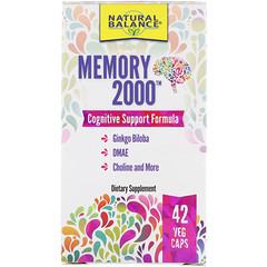 Natural Balance, Memory 2000, 42 Veg Caps