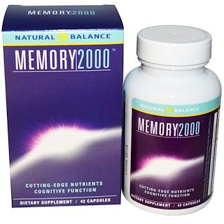 Natural Balance, Memory 2000, 42 Veggie Capsules