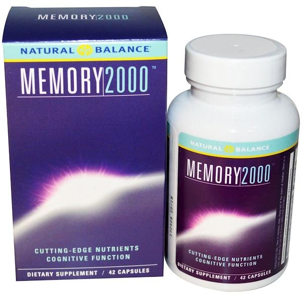 Natural Balance, Memory 2000, 42 капсулы в растительной оболочке
