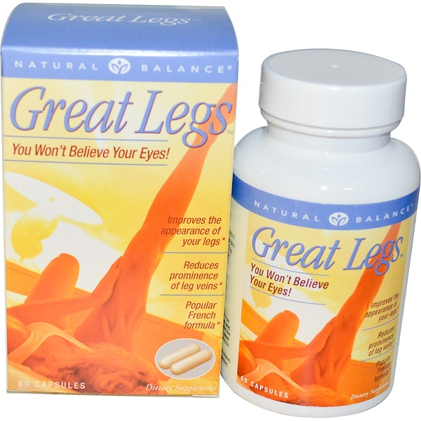 Natural Balance, Great Legs, Original Vein Formula, 60 Veggie Caps