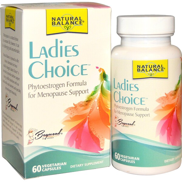 Natural Balance, Ladies Choice, Phytoestrogen Formula For Menopause Support, 60 Veggie Caps