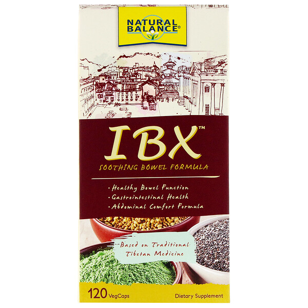 Natural Balance, Formule d'apaisement des intestins IBX, 120capsules végétales (Discontinued Item)