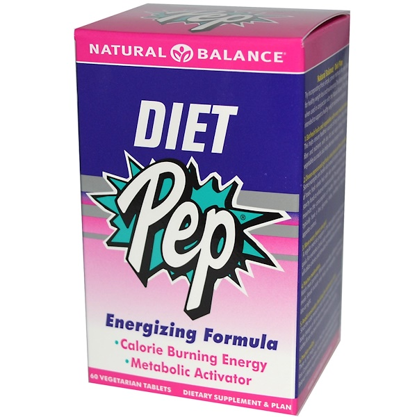 Natural Balance, Diet Pep, Energizing Formula, 60 Veggie Tabs (Discontinued Item)