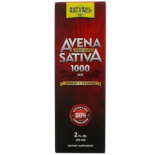 Natural Balance, Avena Sativa, Wild Oats, 1000 mg, 2 fl oz (59 ml)
