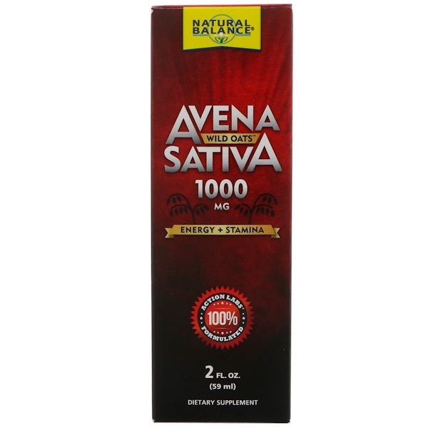 Natural Balance, Avena Sativa, Aveia-branca, 1000 mg, 2 fl oz (59 ml) (Discontinued Item)