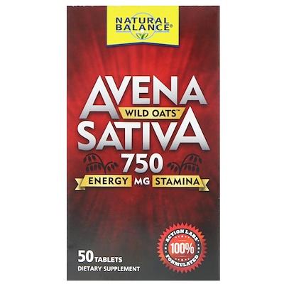Natural Balance Avena Sativa, Wild Oats, 750 mg , 50 Tablets