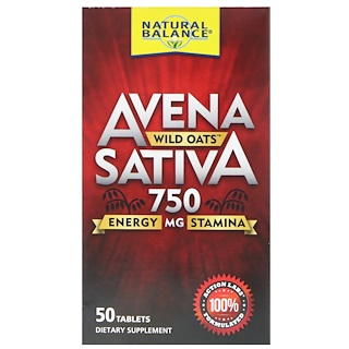 Natural Balance, Avena Sativa, Wild Oats, 750 mg, 50 Tablets